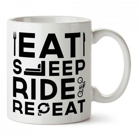 Ye Uyu Bin Tekrarla Motosiklet tasarım baskılı porselen kupa bardak modelleri (mug bardak). Kahve kupası.