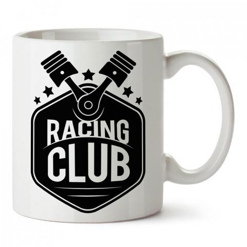 Yarış Kulübü tasarım baskılı porselen kupa bardak modelleri (mug bardak). Kahve kupası.