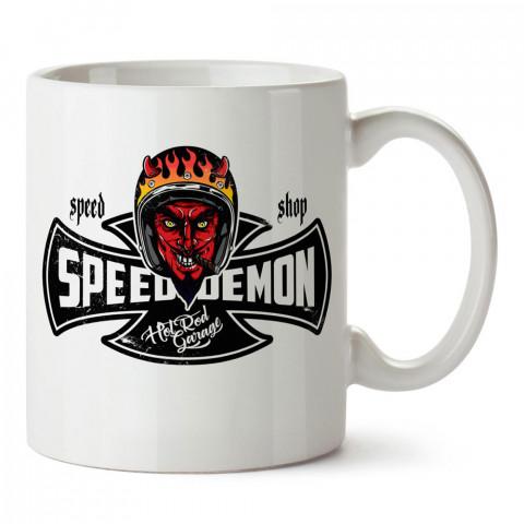 Speed Demon tasarım baskılı porselen kupa bardak modelleri (mug bardak). Kahve kupası.