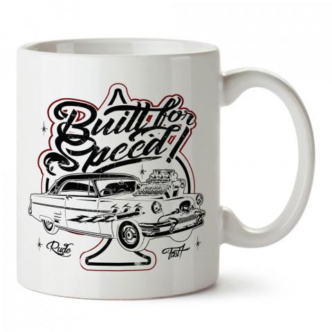 Hız İçin Yaratılmış Otomobil tasarım baskılı porselen kupa bardak modelleri (mug bardak). Kahve kupası.
