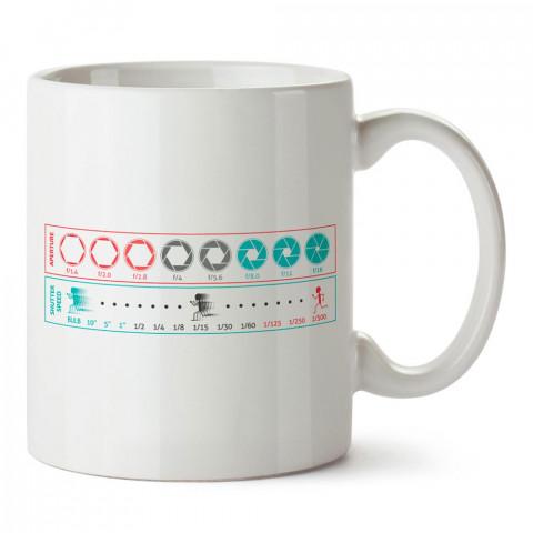 Fotoğraf Makinesi Enstantane tasarım baskılı porselen kupa bardak modelleri (mug) bardak). Kahve kupası.