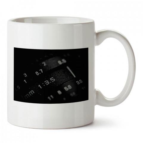 Objektif Ayarları tasarım baskılı porselen kupa bardak modelleri (mug bardak). Kahve kupası.