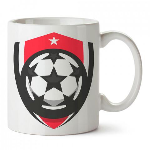 Futbol Topu Arma Tasarım baskılı porselen kupa bardak modelleri (mug bardak). Kahve kupası.
