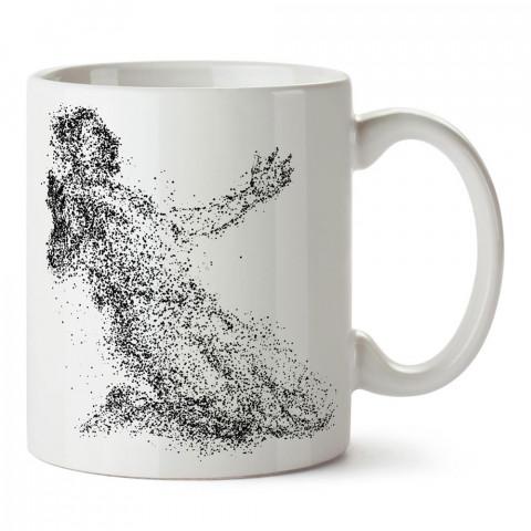 Gol Sevinci Silüeti Tasarım baskılı yıkanabilir porselen kupa bardak modelleri (mug bardak). Kahve kupası.