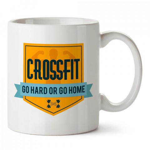 Büyük Oyna Ya Da Hiç Oynama Crossfit tasarım baskılı porselen kupa bardak modelleri (mug bardak). Crossfit ve vücut geliştirici için hediye. Kahve kupası.