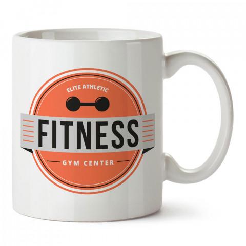 Elite Athletic Fitness tasarım baskılı porselen kupa bardak modelleri (mug bardak). Bodyci, fitnesscı ve vücut geliştirici için hediye. Kahve kupası.