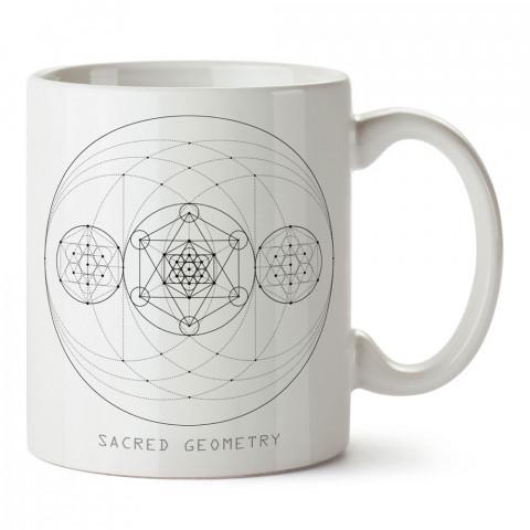 Yoga Kutsal Geometri tasarım baskılı porselen kupa bardak modelleri (mug bardak). Yogi, yogini, yogacı ve yoga severlere hediye. Kahve kupası.