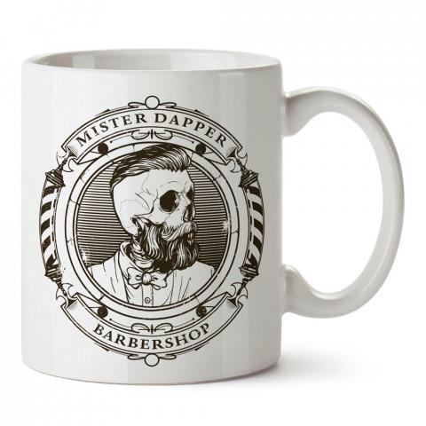 Barbershop Hipster tasarım baskılı porselen kupa bardak modelleri (mug bardak). Hipsterlere, hipster stili sevenlere en güzel hediye. Kahve kupası.