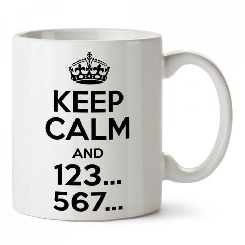 Keep Calm And 123 567 Dans tasarım baskılı porselen kupa bardak modelleri (mug bardak). Dansçıya ve dans severlere en güzel hediye. Kahve kupası.