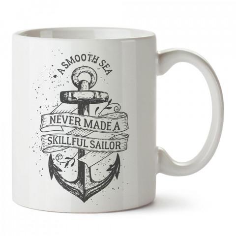 Usta Kaptan Olmak tasarım baskılı porselen kupa bardak modelleri (mug bardak). Denizcilere, yelkencilere ve deniz sevenlere hediye. Kahve kupası.