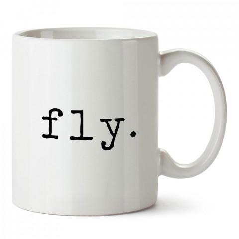 Fly tasarım baskılı porselen kupa bardak modelleri (mug bardak). Havacı, pilot, host, hostes ve seyahat sevenlere hediye. Kahve kupası.