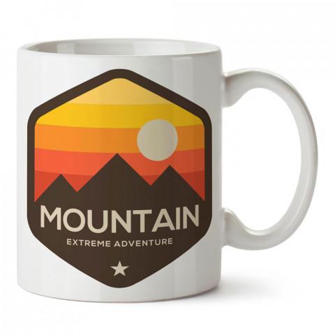 Ölçüsüz Macera Dağcılık tasarım baskılı porselen kupa bardak modelleri (mug bardak). Dağcılara, kamp, orman ve doğaseverlere en güzel hediye. Kahve kupası.