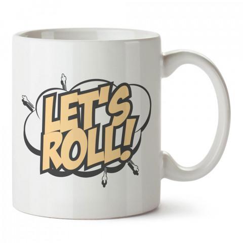 Let's Roll Kaykay Paten tasarım baskılı porselen kupa bardak modelleri (mug bardak). Kaykaycılara ve patencilere en güzel hediye. Kahve kupası.