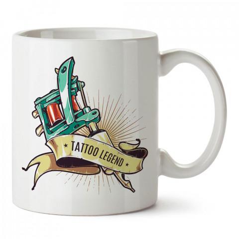 Dövme Efsanesi tasarım baskılı porselen kupa bardak modelleri (mug bardak). Dövmecilere ve dövme severlere en güzel hediye. Kahve kupası.