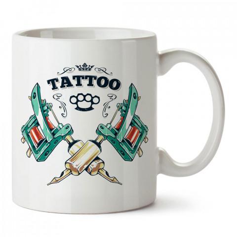 Tattoo Dövme Makinaları tasarım baskılı porselen kupa bardak modelleri (mug bardak). Dövmecilere, tattoo, dövme severlere en güzel hediye. Kahve kupası.