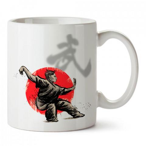 Japon Kültürü Dövüş tasarım baskılı porselen kupa bardak modelleri (mug bardak). Dövüş, savunma, savaş sanatları ile ilgili hediye. Kahve kupası.
