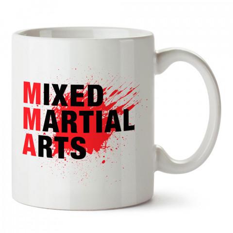 MMA Mixed Martial Arts tasarım baskılı porselen kupa bardak modelleri (mug bardak). Dövüş, savunma, savaş sanatları ile ilgili hediye. Kahve kupası.
