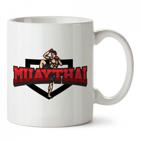 Muay Thai Arma tasarım baskılı porselen kupa bardak modelleri (mug bardak). Dövüş, savunma, savaş sanatları ile ilgili hediye. Kahve kupası.