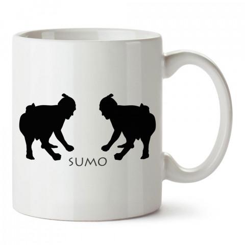 Sumocular tasarım baskılı porselen kupa bardak modelleri (mug bardak). Dövüş, savunma, savaş sanatları ile ilgili en güzel hediye. Kahve kupası.