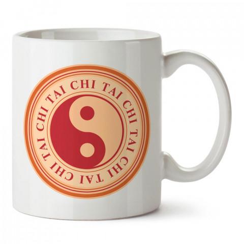 Tai Chi Yin Yang tasarım baskılı porselen kupa bardak modelleri (mug bardak). Dövüş, savunma, savaş sanatları ile ilgili en güzel hediye. Kahve kupası.