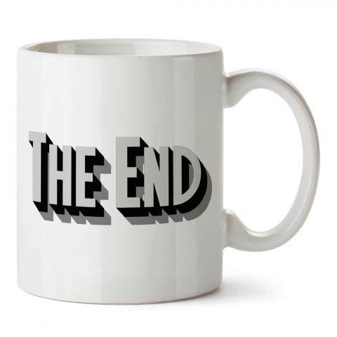 3 Boyutlu The End Yazısı tasarım baskılı porselen kupa bardak modelleri (mug bardak). Sevdiklerinizi mutlu edecek hediyeler. Kahve kupası.