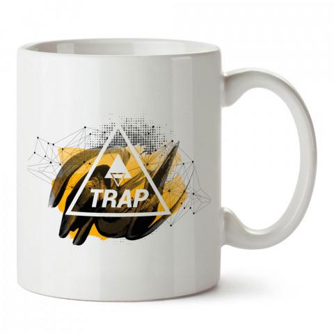 Trap Müzik ve Üçgenler tasarım baskılı porselen kupa bardak modelleri (mug bardak). Trap müzik severlere en güzel hediye. Kahve kupası.
