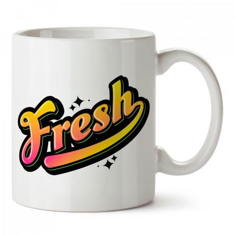 Grafiti Fresh tasarım baskılı porselen kupa bardak modelleri (mug bardak). Sevdiklerinizi mutlu edecek hediyeler. Kahve kupası.