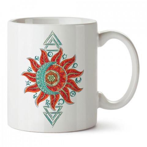 Simya Gezegen Dövme tasarım baskılı porselen kupa bardak modelleri (mug bardak). Sevdiklerinizi mutlu edecek hediyeler. Kahve kupası.