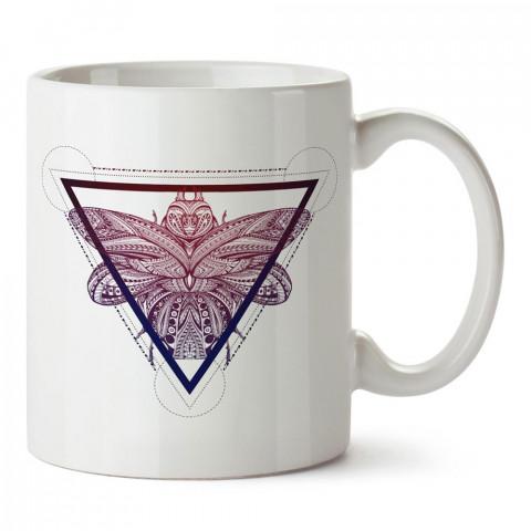 Tattoo Böcek tasarım baskılı porselen kupa bardak modelleri (mug bardak). Sevdiklerinizi mutlu edecek hediyeler. Kahve kupası.