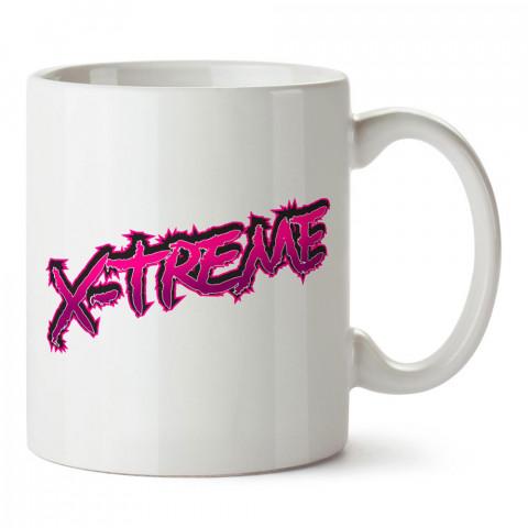 X-treme tasarım baskılı porselen kupa bardak modelleri (mug bardak). Yazılı tasarımlı baskılı hediyelik ürünler. Kahve kupası.