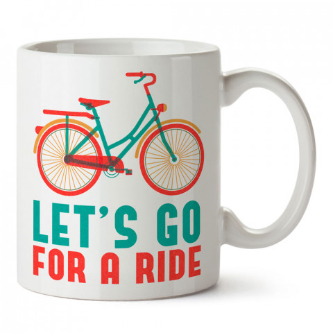 Hadi Bir Gezintiye Çıkalım Bisiklet tasarım baskılı porselen kupa bardak modelleri (mug bardak). Bisiklet severler için en güzel hediye. Kahve kupası.