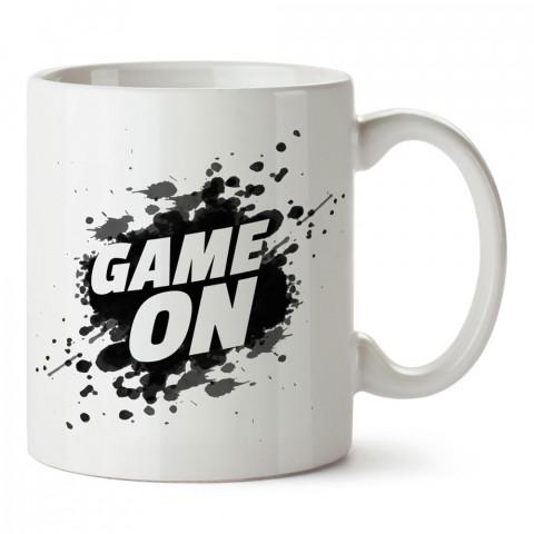 Game On Futbol Tasarım baskılı porselen kupa bardak modelleri (mug bardak). Futbol severlere ve futbolculara en güzel hediye. Kahve kupası.