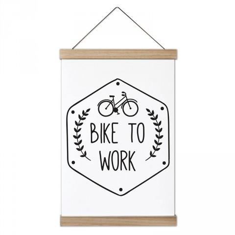 Bike To Work tasarım dekoratif ahşap çerçeveli kanvas poster tablo modelleri. Bisiklet severlere en güzel hediye modern kanvas poster duvar tabloları.
