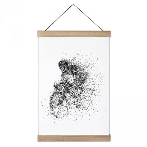 Bisiklet Süren İnsan Silüeti tasarım kanvas poster tablo modelleri. Bisikletçiye ve bisiklet severlere en güzel hediye modern kanvas poster duvar tabloları.