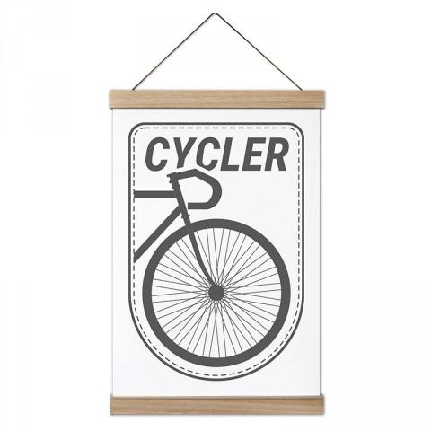 Cycler Bisiklet tasarım ahşap çerçeveli kanvas poster tablo modelleri. Bisikletçiye ve bisiklet severlere en güzel hediye modern kanvas poster duvar tabloları.