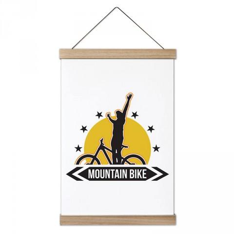 Mountain Bike Dağ Bisikleti tasarım kanvas poster tablo modelleri. Bisikletçiye ve bisiklet severlere en güzel hediye modern kanvas poster duvar tabloları.