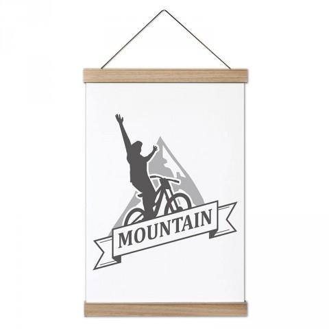 Mountain Dağ Bisikleti tasarım dekoratif kanvas poster tablo modelleri. Bisikletçiye ve bisiklet severlere en güzel hediye modern kanvas poster duvar tabloları.