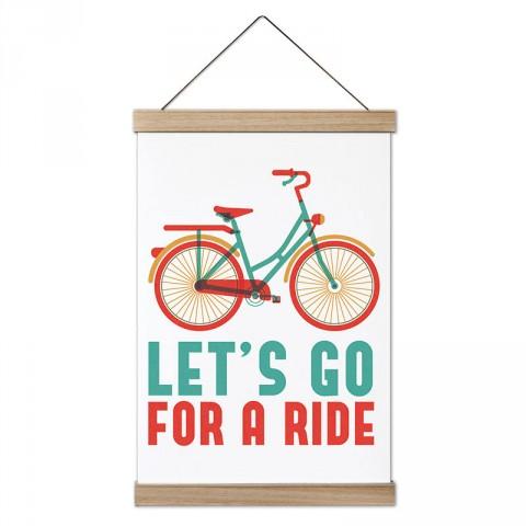 Hadi Bir Gezintiye Çıkalım tasarım ahşap çerçeveli dekoratif kanvas poster tablo modelleri. Bisikletçiye ve bisiklet severlere en güzel hediye kanvas posterler.