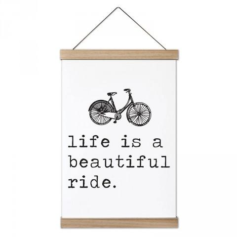 Hayat Güzel Bir Gezinti Bisiklet tasarım ahşap çerçeveli kanvas poster tablo modelleri. Bisikletçiye ve bisiklet severlere hediye modern kanvas poster tablolar.
