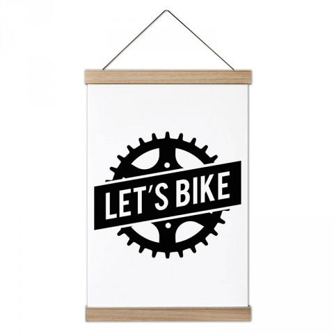 Let's Bike Dişli Bisiklet tasarım ahşap çerçeveli kanvas poster tablo modelleri. Bisikletçiye ve bisiklet severlere en güzel hediye modern kanvas posterler.
