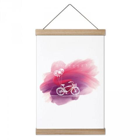 Suluboya Bisiklet ve Balon tasarım dekoratif kanvas poster tablo modelleri. Bisikletçiye ve bisiklet severlere en güzel hediye modern kanvas poster tablolar.