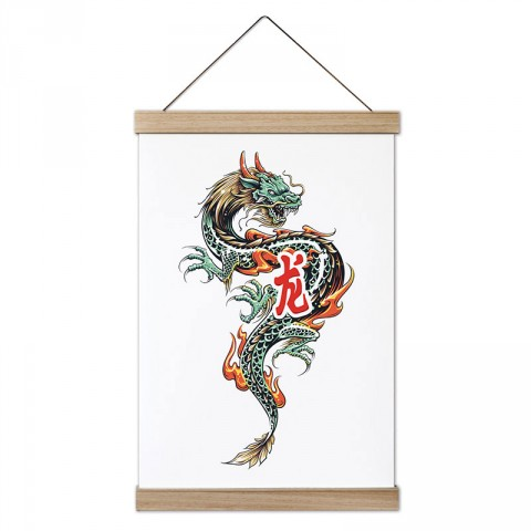 Ejder tasarım dekoratif ahşap çerçeveli kanvas poster tablo modelleri. Dövüşçüye en güzel hediye modern kanvas poster duvar tabloları. Ejderli kanvas poster.
