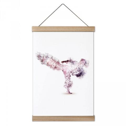 Piksel Taekwondo tasarım dekoratif ahşap çerçeveli kanvas poster tablo modelleri. Dövüşçüye ve tekvandocuya en güzel hediye modern kanvas posterler.