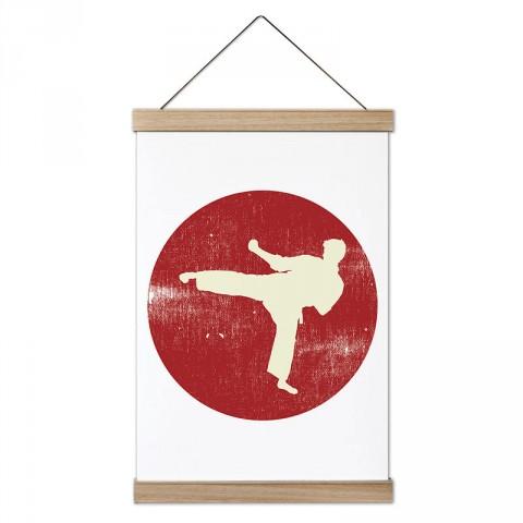 Dövüş Sanatı Tekme tasarım dekoratif ahşap çerçeveli kanvas poster tablo modelleri. Karatecilere ve dövüşçüye en güzel hediye modern kanvas posterler.