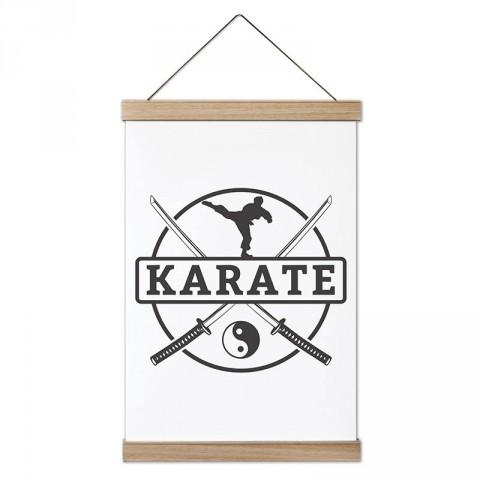 Karate Yin Yang tasarım dekoratif ahşap çerçeveli kanvas poster tablo modelleri. Karateciye ve dövüşçüye en güzel hediye modern kanvas poster duvar tabloları.