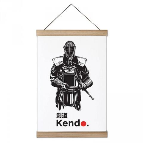 Kendo Kılıç Kullanma Sanatı tasarım dekoratif ahşap çerçeveli kanvas poster tablo modelleri. Dövüşçüye en güzel hediye modern kanvas poster duvar tabloları.