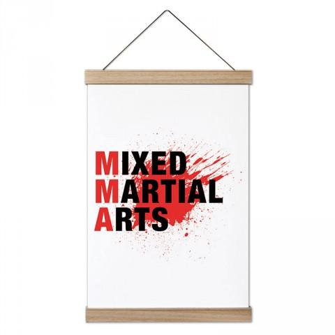 MMA Mixed Martial Arts tasarım dekoratif ahşap çerçeveli kanvas poster tablo modelleri. Dövüşçüye en güzel hediye modern kanvas poster duvar tabloları.