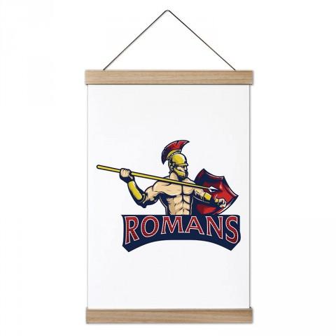 Romans Romalılar tasarım dekoratif ahşap çerçeveli kanvas poster tablo modelleri. Dövüşçüye en güzel hediye modern kanvas poster duvar tabloları.