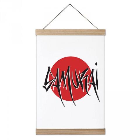 Japonya Samurai tasarım dekoratif ahşap çerçeveli kanvas poster tablo modelleri. Dövüşçüye en güzel hediye modern kanvas poster duvar tabloları.