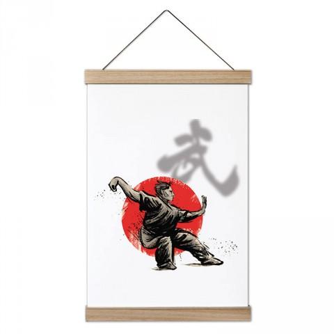 Japon Kültürü Dövüş tasarım dekoratif ahşap çerçeveli kanvas poster tablo modelleri. Dövüşçüye en güzel hediye modern kanvas poster duvar tabloları.